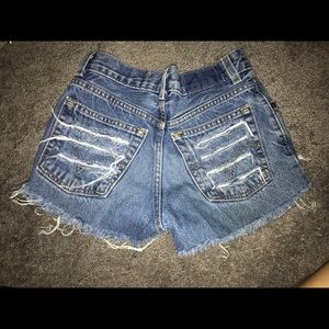 Pants - Vintage high waisted jean shorts
